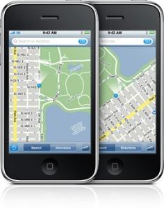 maps-compass-facing-20090608 iPhone 3GS